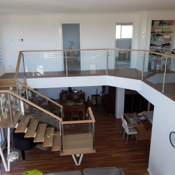 Glass Balustrading Stairwell - All Hours Glass